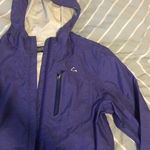 Paradox purple/lavender color m women's raincoat